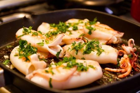 mediterrane k�che: Die Tintenfische Gerichte ist der mediterranen K�che Lizenzfreie Bilder