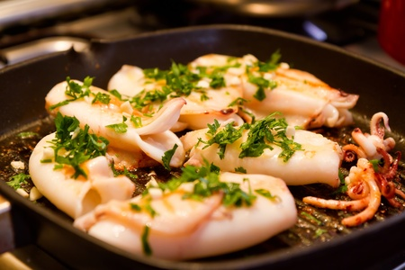 The squid dishes is of the Mediterranean cuisine