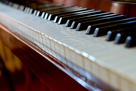 Beautiful old piano keyboard Stock Photo