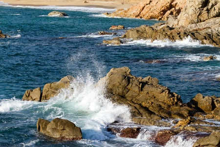 costa brava: D�tail de la c�te espagnole (Costa Brava)