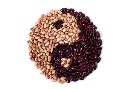 Nice yin yang form from common beans Stock Photo - 12374084