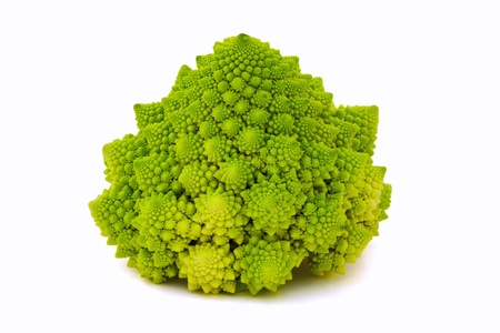 Rare special broccoli  Romanesco broccoli cabbage  Stock Photo