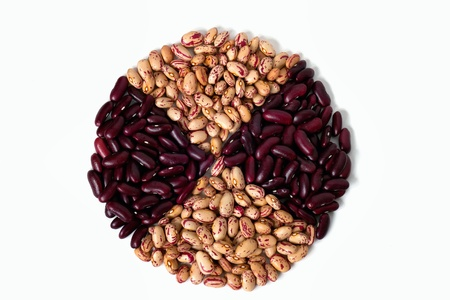 Circular shape of common beans  photo