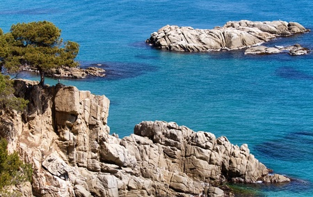 Detail of the Spanish coast  Costa Brava  photo