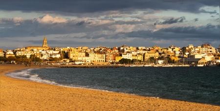 Nice spanish village at the sunset light photo