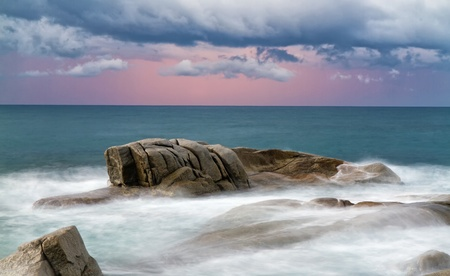 Detail of the Spanish coast (Costa Brava)