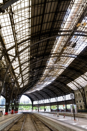 Interesting railway station inside photo