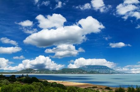 Beautiful landscape from lake Balaton (Hungary)