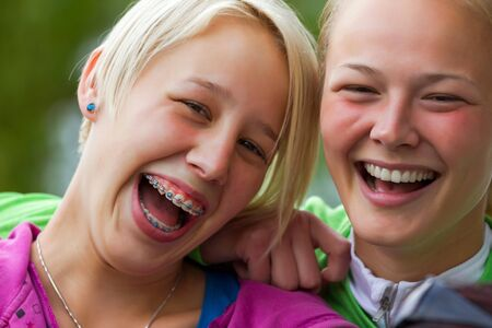 Young sisters enjoy the life Stock Photo - 15689362