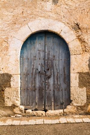 Beautiful old door in the city of Spain