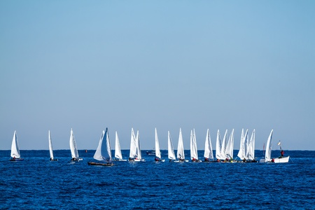 Regatta is a beautiful day Stock Photo