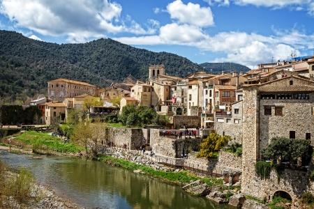 Besalu medieval village, Catalonia, Spain  Archivio Fotografico