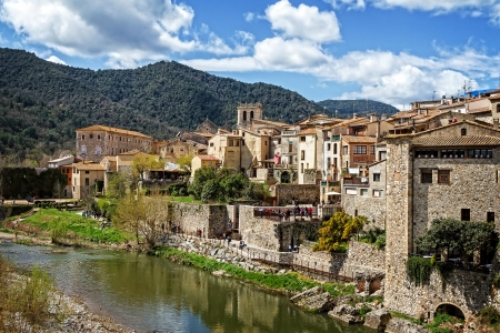 Besalu medieval village, Catalonia, Spain  Stock Photo