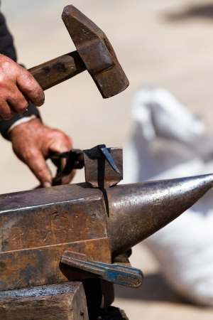 forgeman: Iron forging a close up
