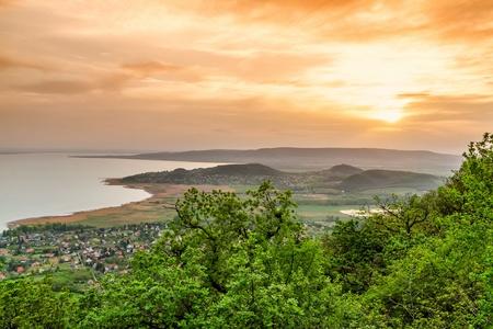 Landscape at lake Balaton, Szigliget, Hungary,
