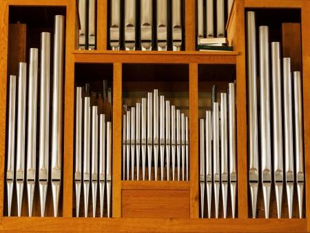 Beautiful wood organ detail Archivio Fotografico