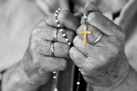 ロザリオの祈り 写真素材