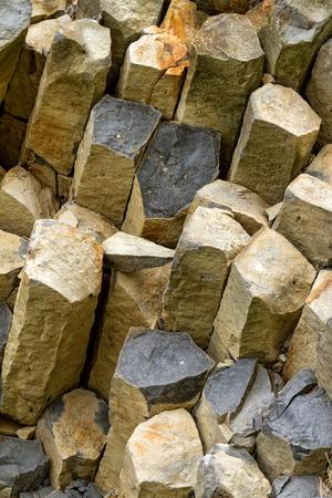 columnar: Interesting columnar basalt at Hungary Stock Photo