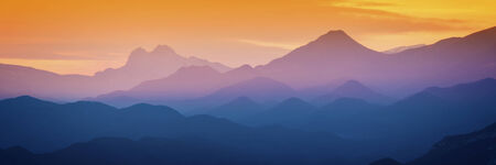 views of the mountains: Beautiful sunset light in the spanish mountains (Serra d Entreperes)