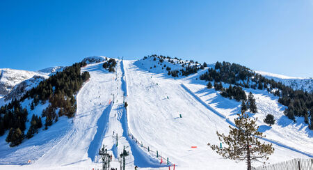 Snowy mountains in Spain (Masella),ski resort