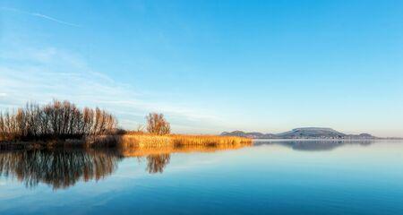 balaton: Landscape from Hungary from the lake Balaton Stock Photo