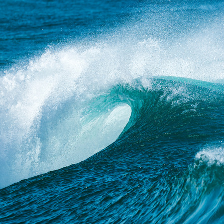 sprays: Beautiful Blue Ocean Wave