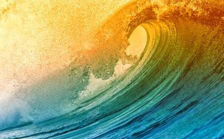vague: Belle Vague Ocean Blue Banque d'images