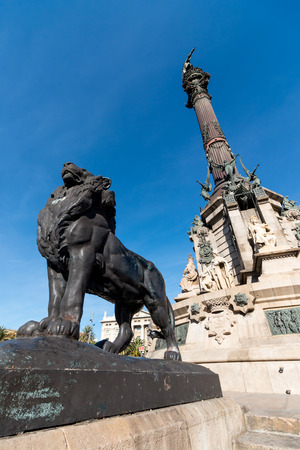 Monument to Christopher Columbus - Barcelona  Column of Barcelona, Spain photo