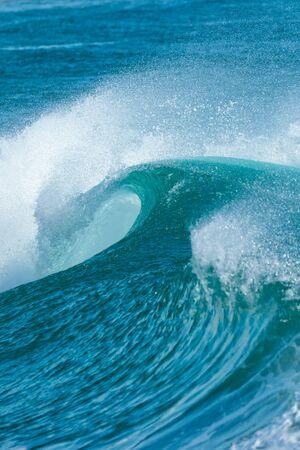 shorebreak: Beautiful Blue Ocean Wave
