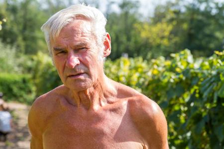 grapevine: Senior grapevine farmer portrait Stock Photo