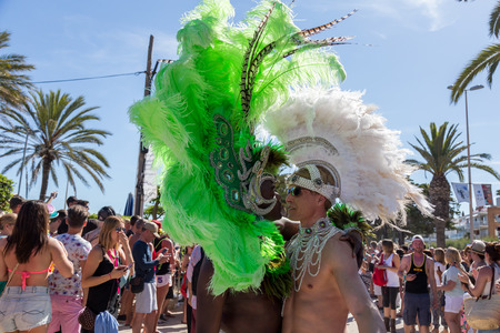 transgender gay: SITGES - JUNY 19, 2016: Pride of the lesbian, gay, bisexual and transgender People in the streets of Sitges, Spain on Juny 19, 2016.