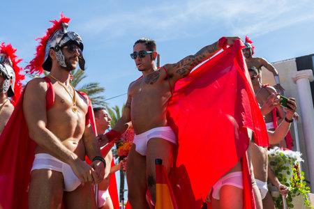 transgender gay: SITGES,SPAIN - JUNY 19, 2016: Pride of the lesbian, gay, bisexual and transgender People in the streets of Sitges, Spain on Juny 19, 2016.
