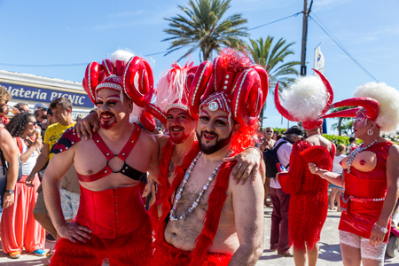 transgender: SITGES,SPAIN - JUNY 19, 2016: Pride of the lesbian, gay, bisexual and transgender People in the streets of Sitges, Spain on Juny 19, 2016.