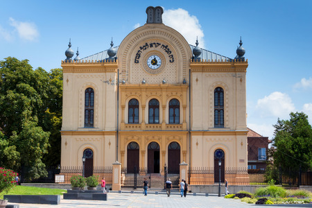 pecs: Synagogue in city Pecs, Hungary, Europe, 18.august 2016