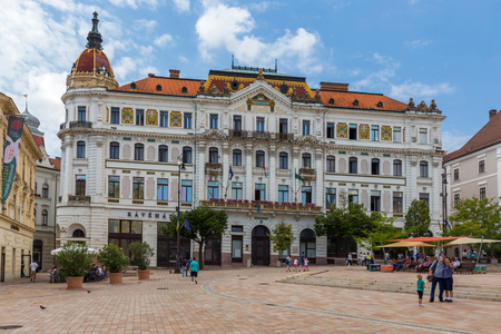 pecs: City Pecs of  Hungary. The county hall. 18. august2016