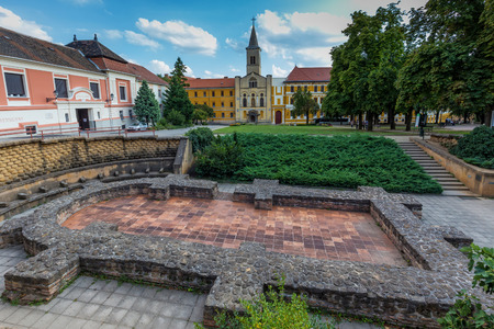 City Pecs (Sopianae) - historical town centre, Early Christian Mausoleum, Saint Stephens Square, Hungary.