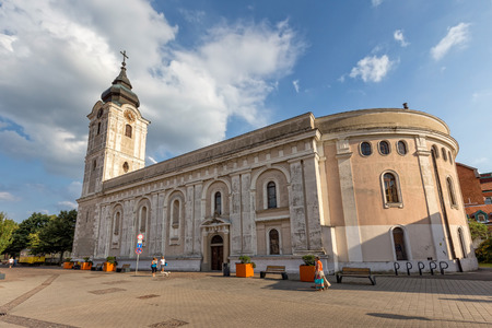 st  francis: Old church in city Pecs of Hungary, (St. Francis church) 16 august 2016