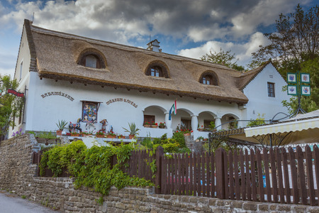 Hungarian traditional architecture style in the village Tihany, near from lake Balaton