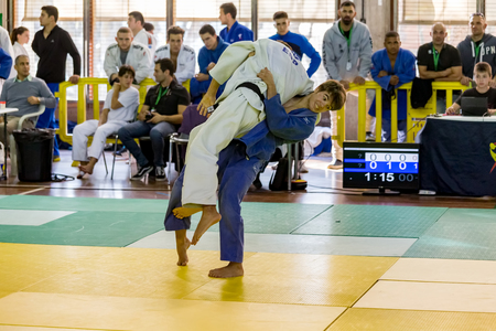 Competitors in Catalan Senior Judo Championships in Barcelona, 29 october 2016, Barcelona Spain