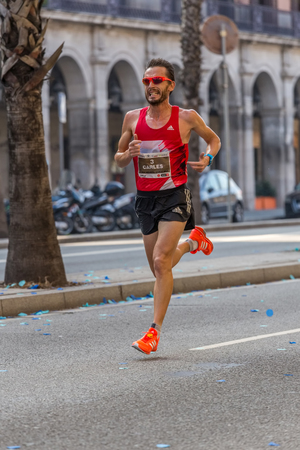 mid distance: Carles Castillejo of Spain, the second of 10000m, on Championship runners of firemans Running events , 30 october 2016 in Barcelona, Spain