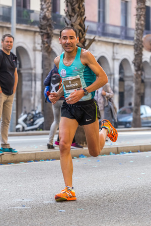 marcos: Marcos Sanza runner  of 10000m, on Championship runners of firemans Running events , 30 october 2016 in Barcelona, Spain