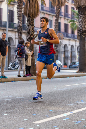 mid distance: Sales of Llorenç 10000m runner, on Championship runners of Firemans Running events of 30 October 2016 in Barcelona, ??Spain