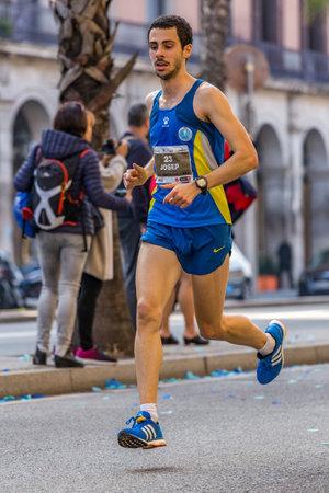 josep: Josep Arnal runner  of 10000m, on Championship runners of firemans Running events , 30 october 2016 in Barcelona, Spain