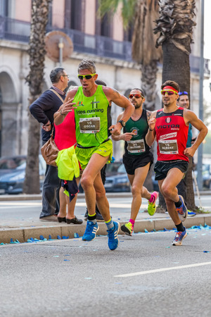 mid distance: Runners of 10000m, on Championship runners of firemans Running events , 30 october 2016 in Barcelona, Spain