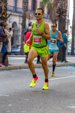 mid distance: Dani Cuartero Pastor runner  of 10000m, on Championship runners of firemans Running events , 30 october 2016 in Barcelona, Spain