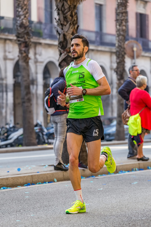 Ruben Castro Algora runner of 10000m, on Championship runners of firemans Running events , 30 october 2016 in Barcelona, Spain