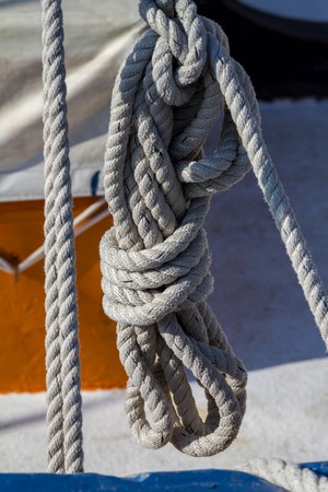 fishing rig: Detail of a ships rigging