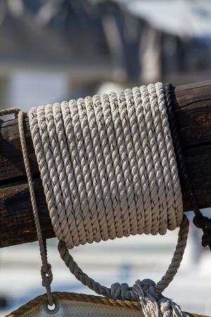polea: Detalle del aparejo de una nave