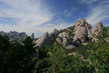 View of Montserrat mountains (Barcelona,Catalonia,Spain)