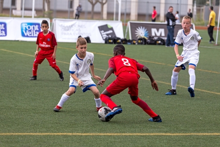 Kids soccer championship in Sant Antoni de Calonge in Spain, 12 April 2017